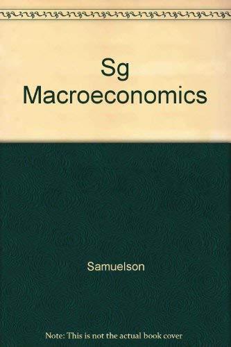 9780070548930: SG Macroeconomics