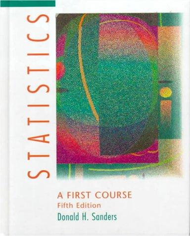9780070549005: Statistics: A First Course