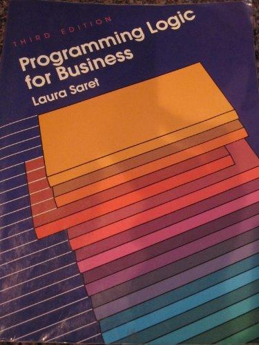 9780070549081: Programming Logic for Business