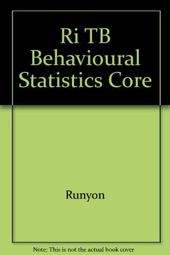 9780070549272: Ri TB Behavioural Statistics Core