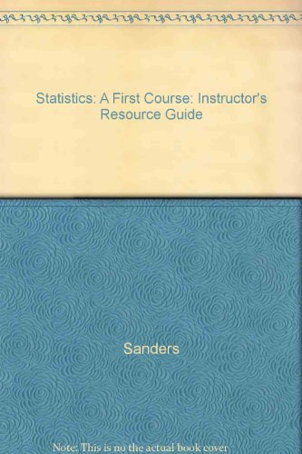 9780070549449: Statistics: A First Course: Instructor's Resource Guide