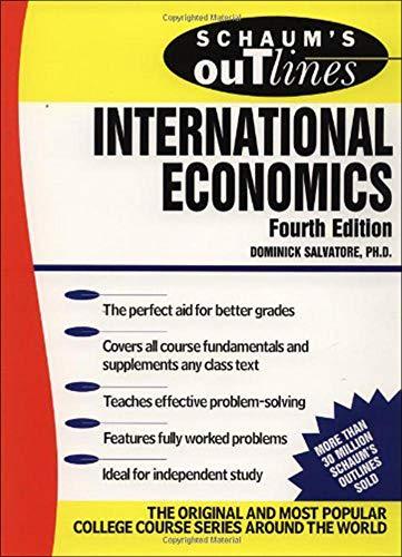 9780070549500: Schaum's Outline of International Economics