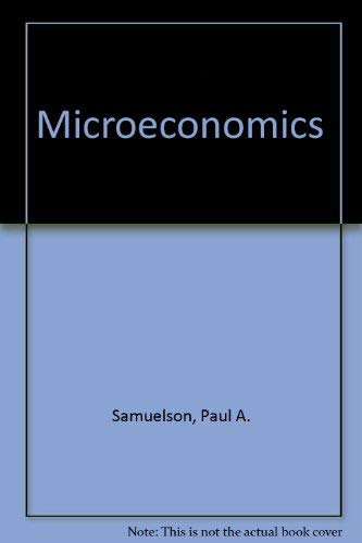 9780070549937: Microeconomics