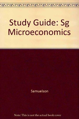 9780070549999: Study Guide: Sg Microeconomics