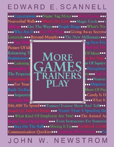 9780070550452: More Games Trainers Play (McGraw-Hill Training Series)