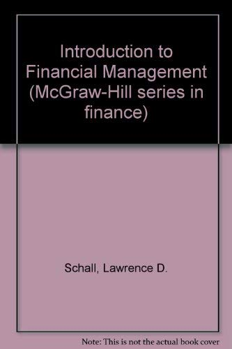 9780070550971: Introduction to financial management (McGraw-Hill series in finance)
