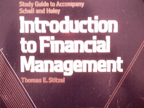 9780070551022: Study Guide to Accompany Schall and Haley Introduction to Financial Management