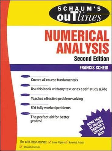 9780070552210: Schaum's Outline of Numerical Analysis (Schaum's Outline Series)