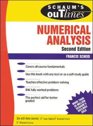 9780070552210: Schaum's Outline of Numerical Analysis (Schaum's Outline Series)