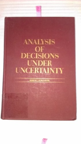 9780070553002: Analysis of Decisions Under Uncertainty