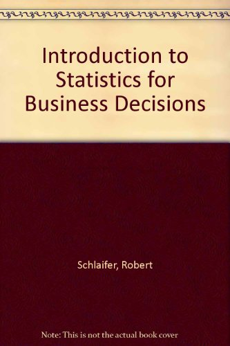 9780070553088: Introduction to Statistics for Business Decisions