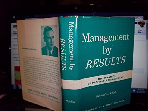 9780070553200: Management by Results