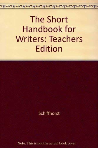 9780070553453: The Short Handbook for Writers