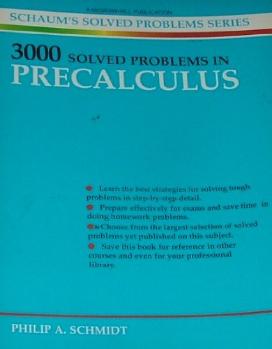 9780070553651: 3000 Solved Problems in Precalculus (Schaums Solved Problems Series)
