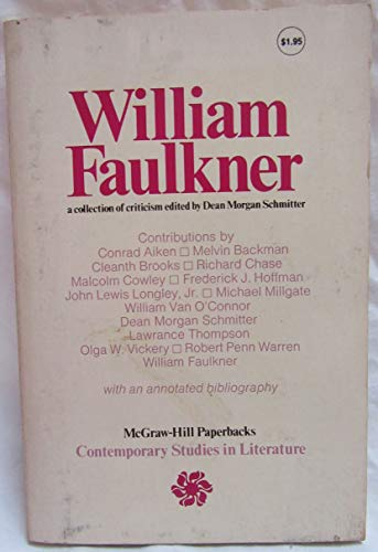 9780070553873: William Faulkner: A Collection of Criticism (Contemporary Studies in Literature)