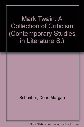 9780070553941: Mark Twain: a collection of criticism (Contemporary studies in literature)