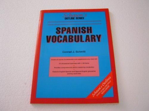9780070554276: Schaums Outline of Spanish Vocabulary (Schaum's Outline Series)