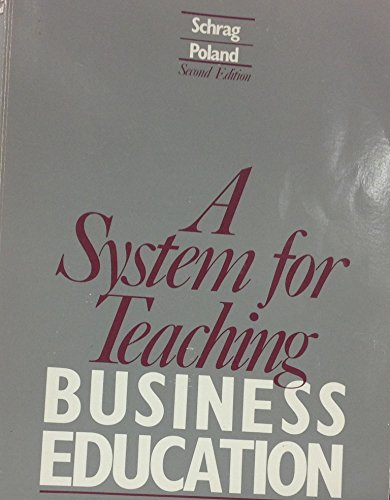9780070556027: A System for Teaching Business Education