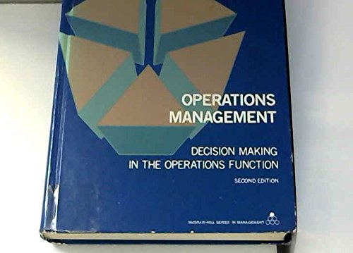 9780070556157: Operations management: Decision making in the operations function (McGraw-Hill series in management)