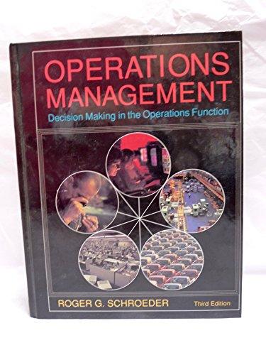 9780070556188: Operations Management: Decision Making in the Operations Function (McGraw-Hill series in management)