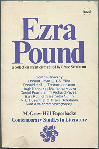 9780070556348: Ezra Pound: A Collection of Criticism (Contemporary studies in literature)