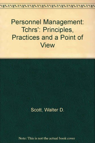 9780070558069: Personnel Management: Principles, Practices, and Point of View