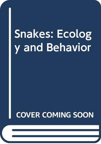9780070560499: Snakes: Ecology and Behavior