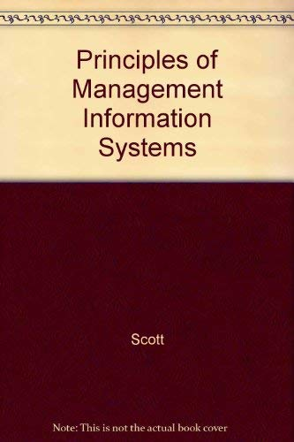 9780070561076: Principles of Management Information Systems