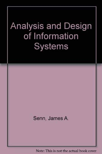 9780070562219: Analysis and design of information systems
