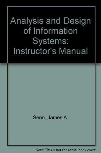 9780070562370: Analysis and Design of Information Systems: Instructor's Manual