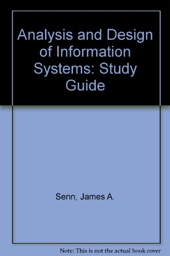 9780070562875: analysis and design of information systems