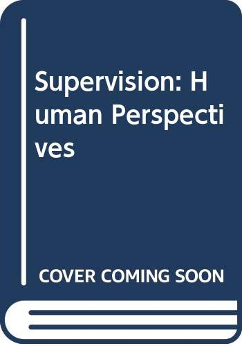 9780070563124: Supervision: Human Perspectives
