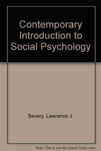 9780070563308: A Contemporary Introduction to Social Psychology
