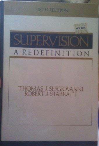 9780070563391: Supervision: A Redefinition