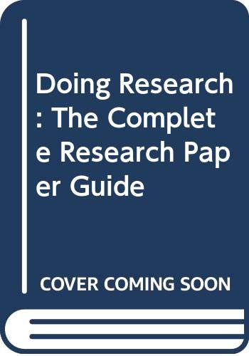 9780070563513: Doing Research: The Complete Research Paper Guide