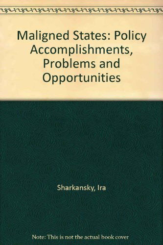 9780070564336: Maligned States: Policy Accomplishments, Problems and Opportunities