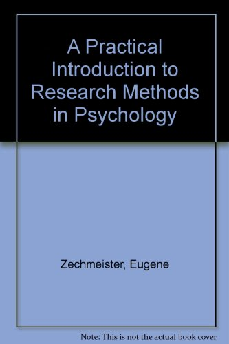 9780070564855: Practical Introduction to Research Methods in Psychology