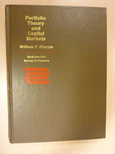 9780070564879: Portfolio Theory and Capital Markets