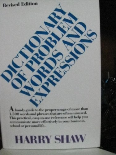 9780070565173: Dictionary of Problem Words and Expressions