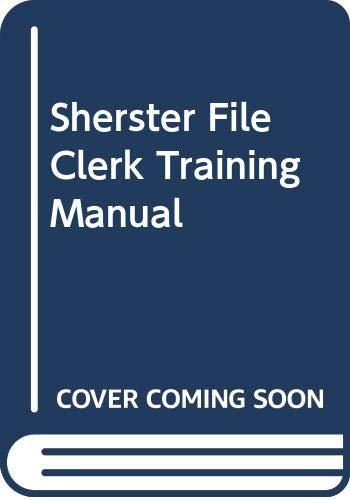 9780070566415: Sherster File Clerk Training Manual