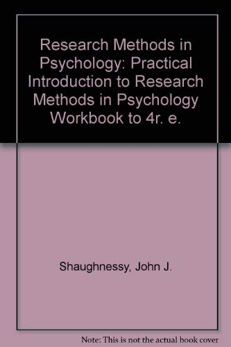 9780070567979: Research Methods in Psychology: Practical Introduction to Research Methods in Psychology Workbook to 4r. e.