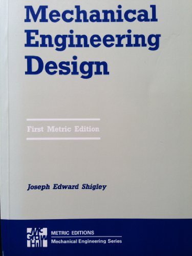 9780070568983: Mechanical Engineering Design: Metric Edition