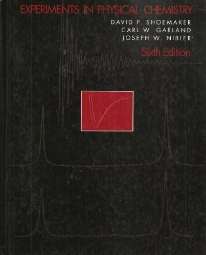 9780070570740: Experiments in Physical Chemistry