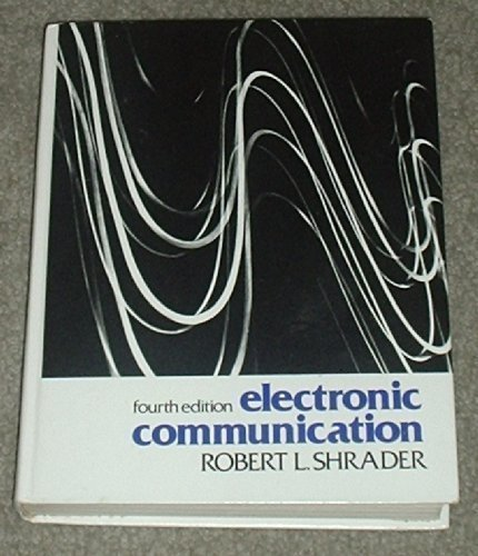 9780070571501: Electronic communication