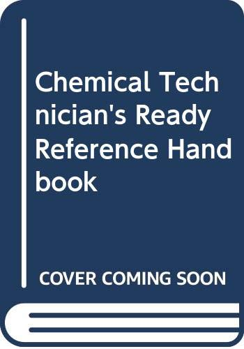 9780070571754: Chemical technicians' ready reference handbook