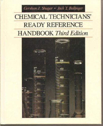 9780070571839: Chemical Technicians' Ready Reference Handbook
