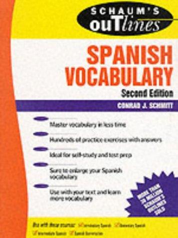 9780070572270: Schaum's Outline of Spanish Vocabulary (Schaum's Outline Series)