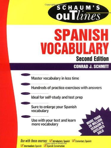 9780070572270: Schaum's Outline of Spanish Vocabulary