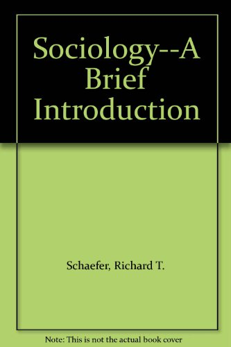 9780070572348: Sociology--A Brief Introduction
