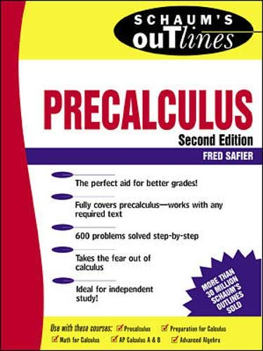 9780070572614: Schaum's Outline of Precalculus